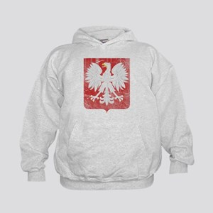 Vintage Polish Coat of Arms No Crown Kids Hoodie