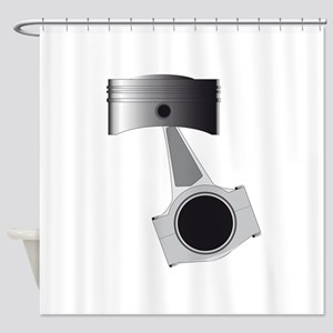 Isolated Auto Piston Shower Curtain