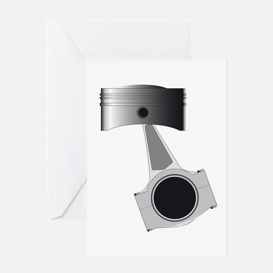 Isolated Auto Piston Greeting Cards