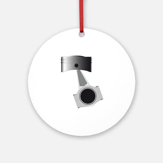 Isolated Auto Piston Round Ornament