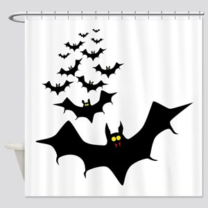 Isolated Bats Shower Curtain