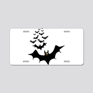 Isolated Bats Aluminum License Plate