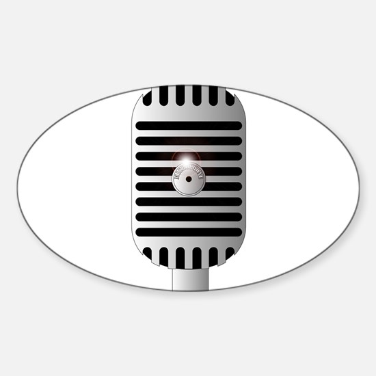 Classic Microphone Decal