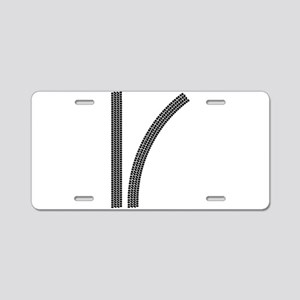 Tyre Tread Marks Aluminum License Plate