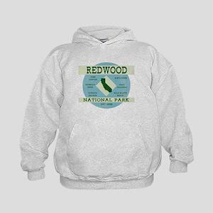 Redwood National Park Vintage Blue Woo Kids Hoodie