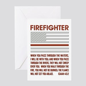 THIN RED LINE Greeting Card