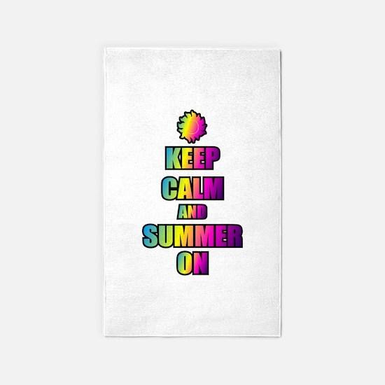 Keep Calm And Summer On Area Rug