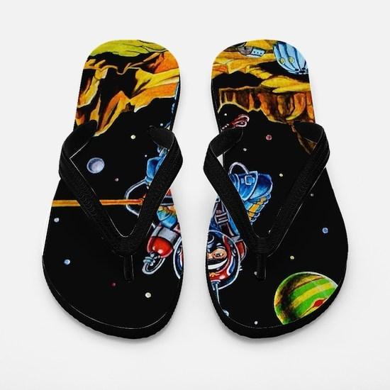 FIGHTING SPACEMAN Flip Flops
