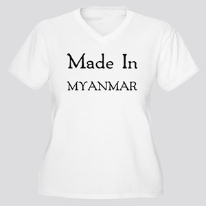 Made In Myanmar Women's Plus Size V-Neck T-Shirt