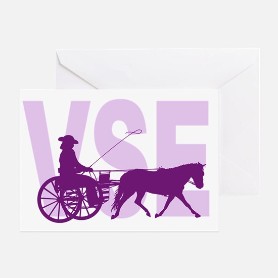 Horses carriages Greeting Card