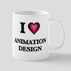 I Love Animation Design Mugs