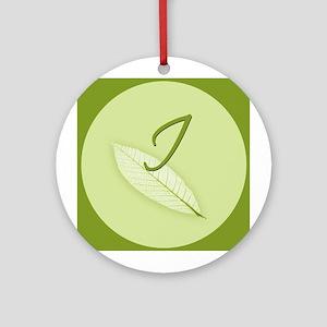 Leaves Monogram I Ornament (Round)