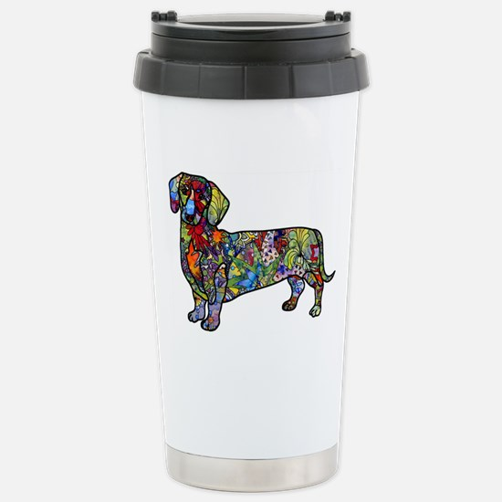 Wild Dachshund Stainless Steel Travel Mug
