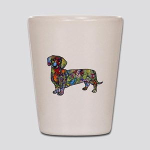 Wild Dachshund Shot Glass