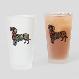 Wild Dachshund Drinking Glass