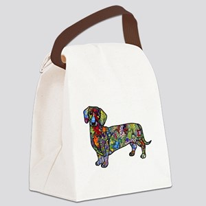 Wild Dachshund Canvas Lunch Bag