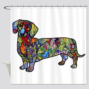 Wild Dachshund Shower Curtain