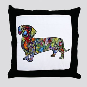 Wild Dachshund Throw Pillow