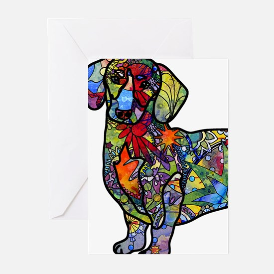 Wild Dachshund Greeting Cards (Pk of 20)