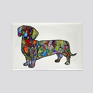 Wild Dachshund Rectangle Magnet