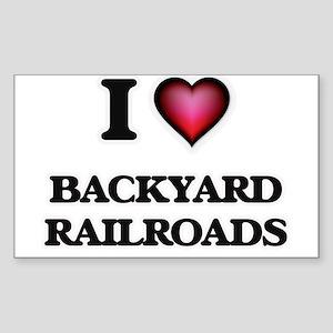 I Love Backyard Railroads Sticker