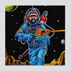 FIGHTING SPACEMAN Tile Coaster