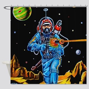 FIGHTING SPACEMAN Shower Curtain
