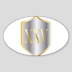 Silver Anniversary Sticker