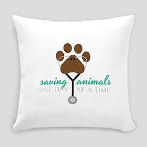 Saving Animals Everyday Pillow