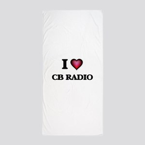 I Love Cb Radio Beach Towel
