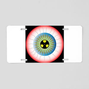 Radioactive Eye Aluminum License Plate