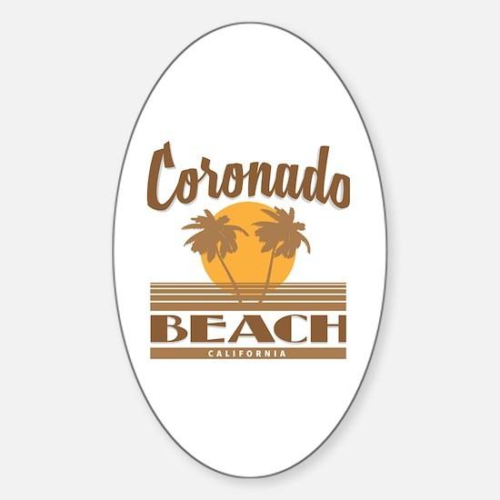 Cute Coronado Sticker (Oval)