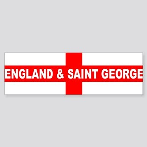 Flag of England and Saint George Bumper Sticker