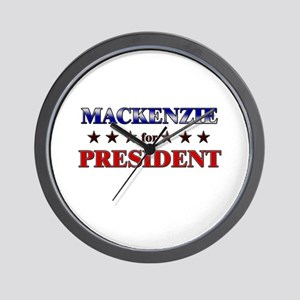 MACKENZIE for president Wall Clock