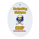 No Smoking Christmas Oval Ornament