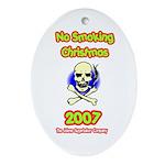 No Smoking Christmas Oval Ornament