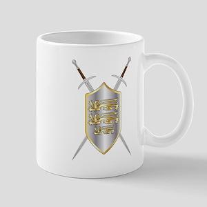 Crossed Swords and Shield Mugs