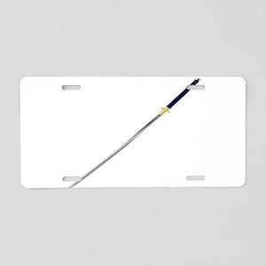 Samurai Sword Aluminum License Plate