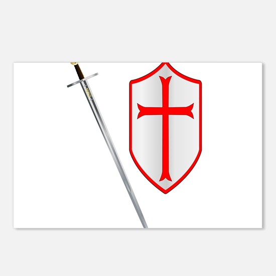 Crusaders Sword and Shiel Postcards (Package of 8)