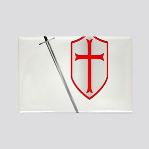 Crusaders Sword and Shield Magnets