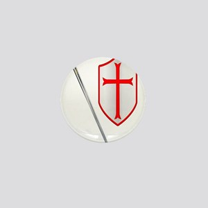 Crusaders Sword and Shield Mini Button