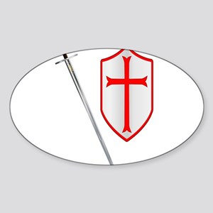 Crusaders Sword and Shield Sticker
