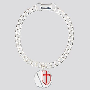 Crusaders Sword and Shie Charm Bracelet, One Charm