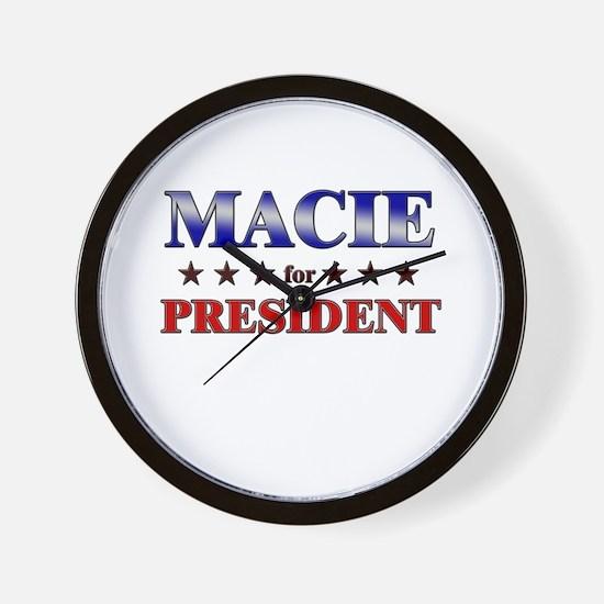 MACIE for president Wall Clock