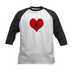 I heart Saxaphone Kids Baseball Jersey