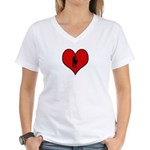 I heart Saxaphone Women's V-Neck T-Shirt