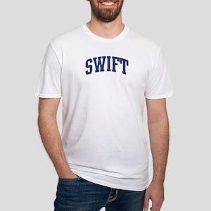 SWIFT design (blue) Fitted T-Shirt