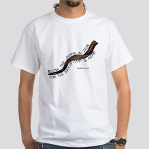 Blow The Shofar In Zion White T-Shirt