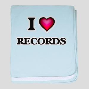 I Love Records baby blanket