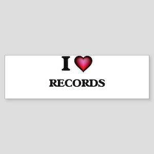I Love Records Bumper Sticker